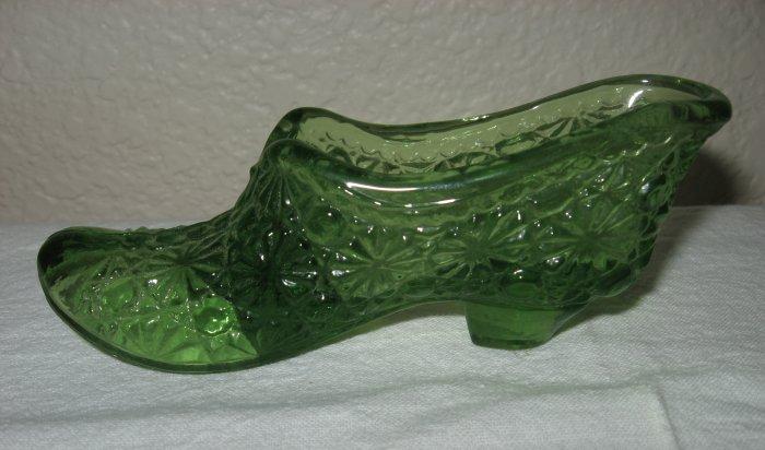 Green Glass Daisy and Button Slipper.