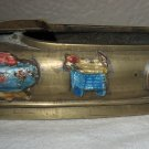 Beautifully Decorated Bronze Chinese Ashtray Slipper.