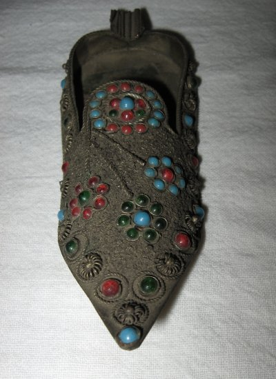 Beautifully Decorated Ashtray Slipper (Bronze?).