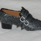 Men's Miniature Black Buckled Shoe