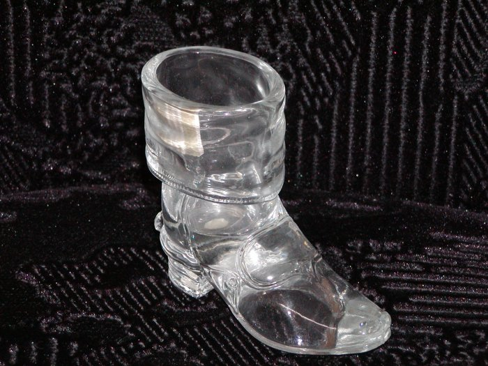Mosser Clear Glass Cowboy Boot w/Spur.