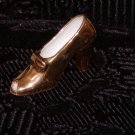 Gold Glass Opened Toed Woman's High Heel Shoe