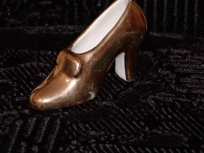 Gold Glass Woman's High Heel Shoe