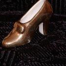 Gold Glass Woman's High Heel Shoe