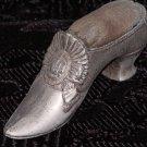 Pot Metal Ladies Shoe with Pin Cushion