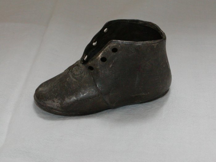 Vintage Pewter Baby Shoe