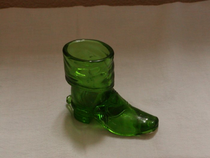 Mosser Green Glass Cowboy Boot with Spur