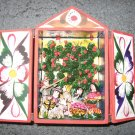 Hand Crafted Retablo Box, Family, Animals, and Apple Tree