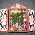 Hand Crafted Retablo Box, Family, Animals, and Apple Tree #2