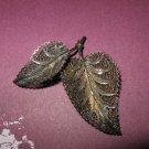 Vintage Metal Leaf Jewelry Finding