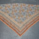 Vintage Orange, Blue, Green, and White Scarf