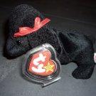 """""""GiGi"""" Black Poodle Ty Beanie Baby 1998"""