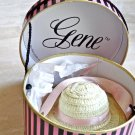 Mint, Gene Collector's Hatbox, Two Flower Decorated Straw Hats Inside