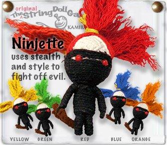 """Ninijette"" String Doll, The Original String Doll Gang"