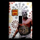 Single Switch Plate Cover, Lucha Libre with Flower Bust Background