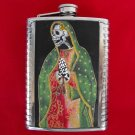Stainless Steel Flask - 8oz., Day of the Dead Virgin Mary Skeleton