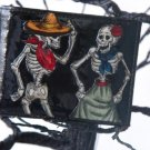 Hand Decorated Wallet, Skeleton Couple Print