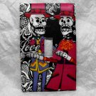 Single Switch Plate Cover, Day of the Dead Skeleton Couple in Hats