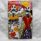 Single Switch Plate Cover, Colorful Day of the Dead Skeleton Couple