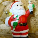 Retro Christmas Ornament, Santa with Bag of Toys