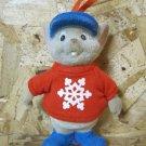 Retro Christmas Ornament, Disney Gray Mouse with Snow Flake Tee