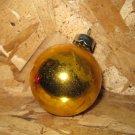 Vintage Christmas Ornament, Yellow Ball