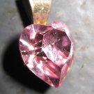 Small Pink Semi-Precious Stone Heart Pendant