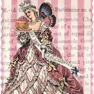 Cartes De Bijoux, Gift Card with Crown Pin, Let Them Eat Cake