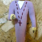 Clay Day of the Dead Figure, Priest in Purple Robe