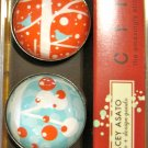 Set of Four Winter Bird Print Magnets