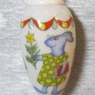 Retro Hutschenreuther Christmas Ornament, Rabbits at School