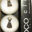 Set of Four Little Black Dress Magnets