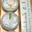 Set of Four Golf Print Magnets