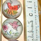 Set of Four Colorful Bird Magnets