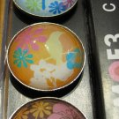 Set of Four Bird and Flower Design Magnets