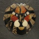 Set of Two Small Orange, Tan and Black Lion Jewelry Finding