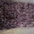 Hand Made Purple Knit Scarf