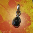 Red/Brown Tear Drop Stone on Silver Bale