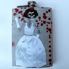 Stainless Steel Flask - 8oz., Day of the Dead Skeleton Bride