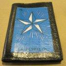 "Hand Decorated Black Mini Wallet, Loteria Image ""La Estrella"" Print"
