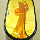 Contact Lens Case ~ Standing Geisha Picture