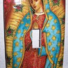 Single Switch Plate Cover, Virgin Mary with Star Background