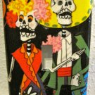 Single Switch Plate Cover, Day of the Dead Couple with Black Background