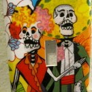 Single Switch Plate Cover, Day of the Dead Couple with Flower Background