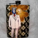 Stainless Steel Flask - 8oz., Mexican Wrestler with Crown