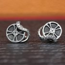 Hand Made Cuff Links, Silver Film Reel