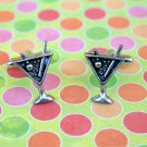 Hand Made Cuff Links, Silver Martinis