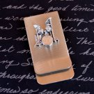 Money and Card Clip with Silver Drum Set Embellishment