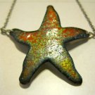 Hand Made Etched Starfish Pendant on Thin Silver Chain, Bracelet or Anklet
