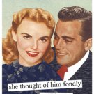 """She Thought of Him Fondly as ""Plan B"" "" Magnet"